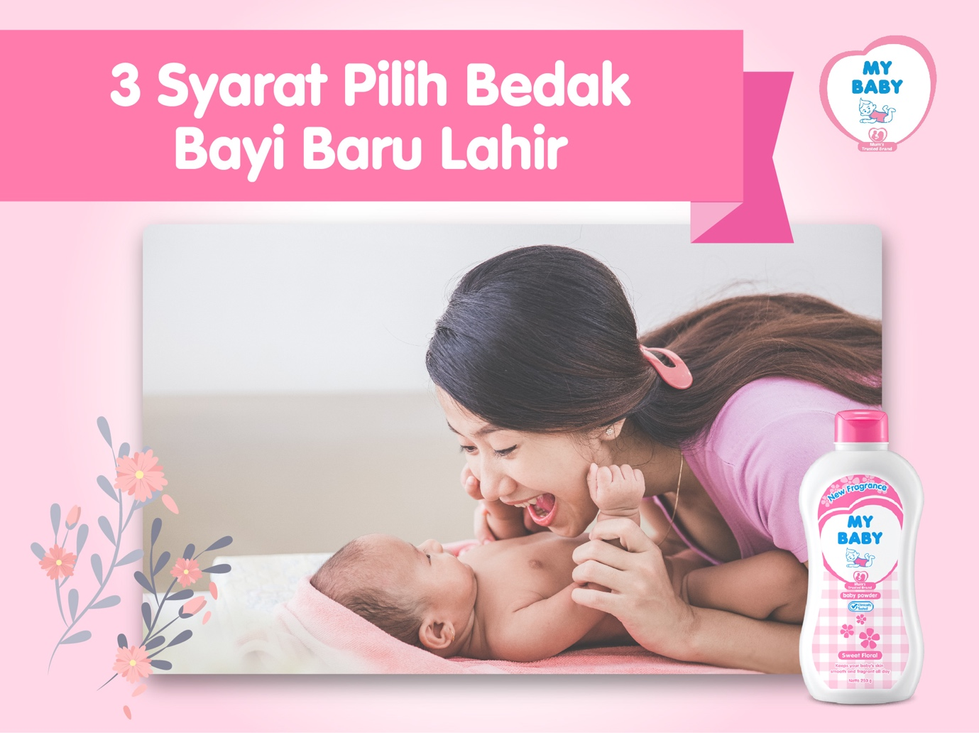 3 Syarat Pilih Bedak Bayi Baru Lahir