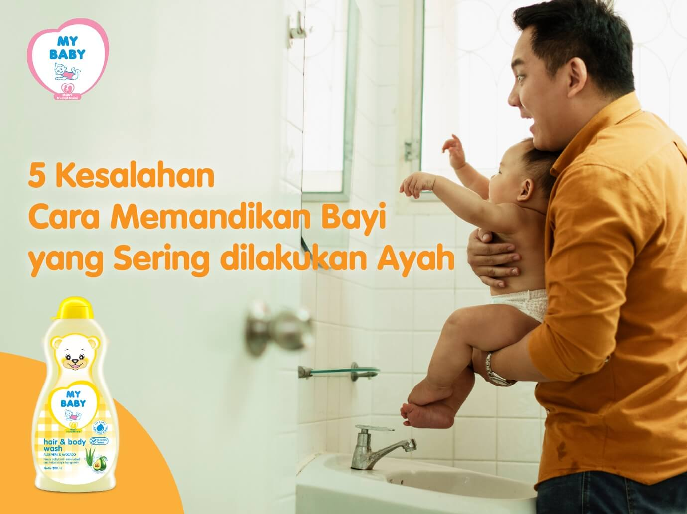 5 Kesalahan Cara Memandikan Bayi Yang Sering dilakukan Ayah