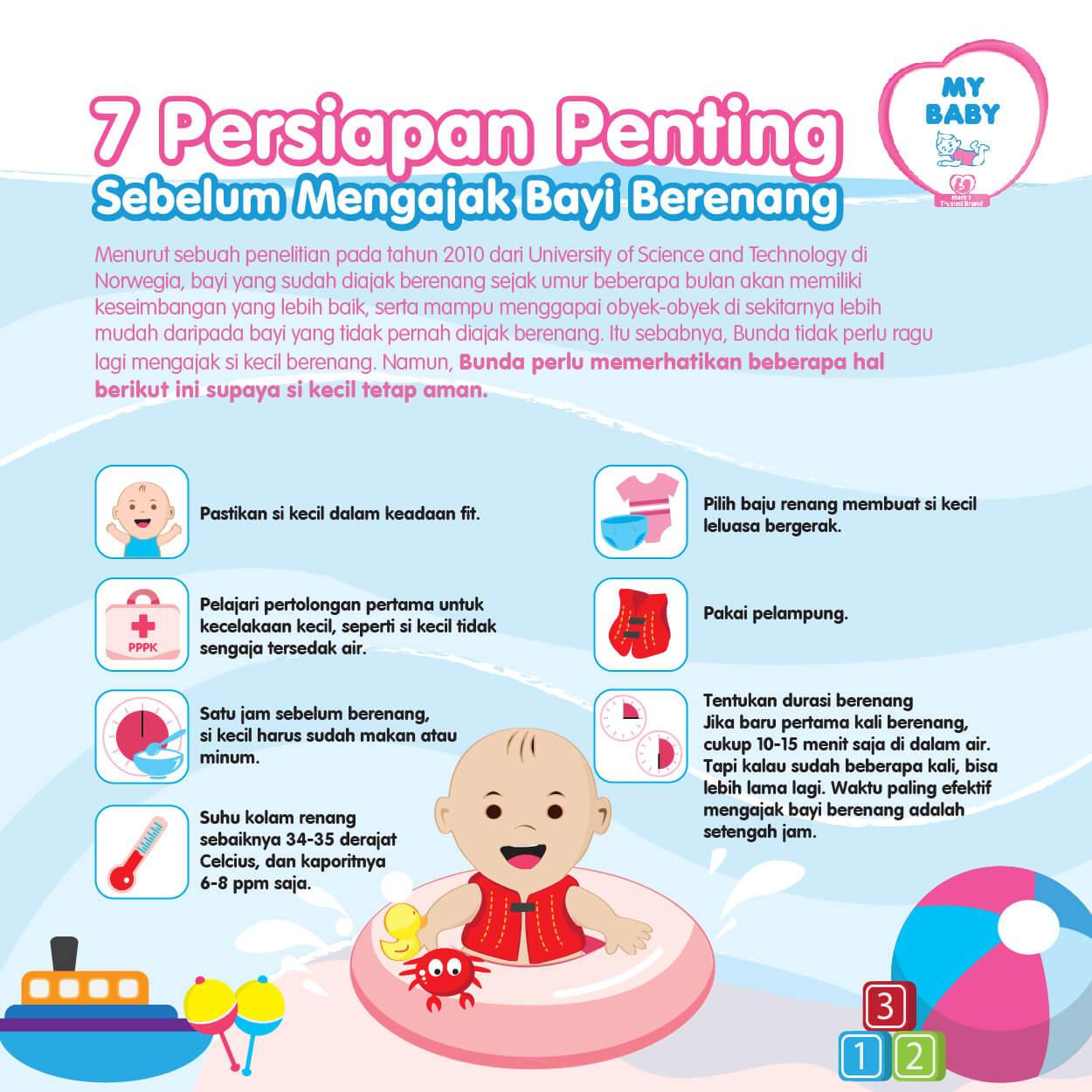 7 Persiapan Penting Sebelum Mengajak Bayi Berenang