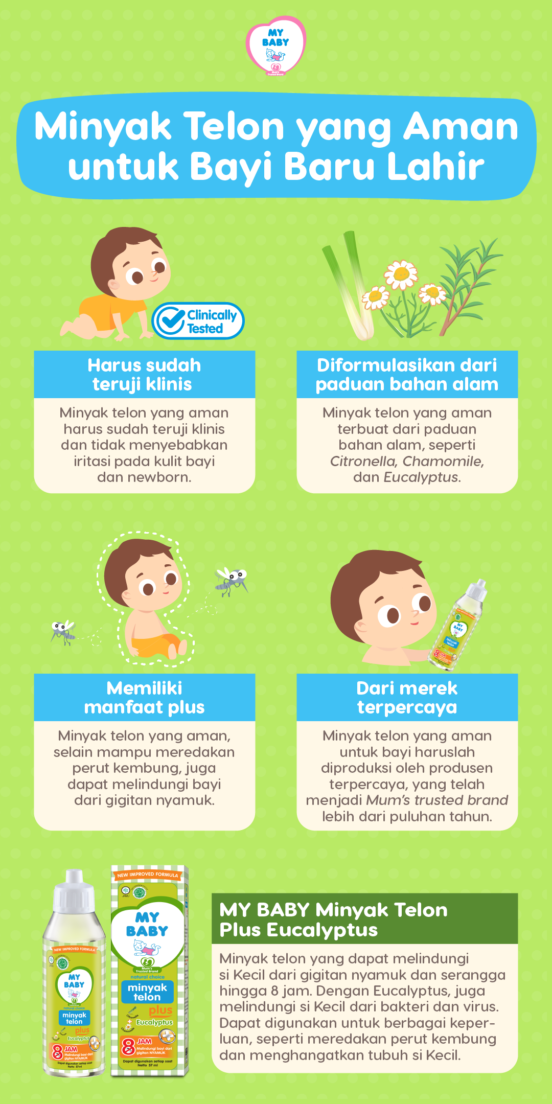 Minyak Telon yang Aman untuk Bayi Baru Lahir