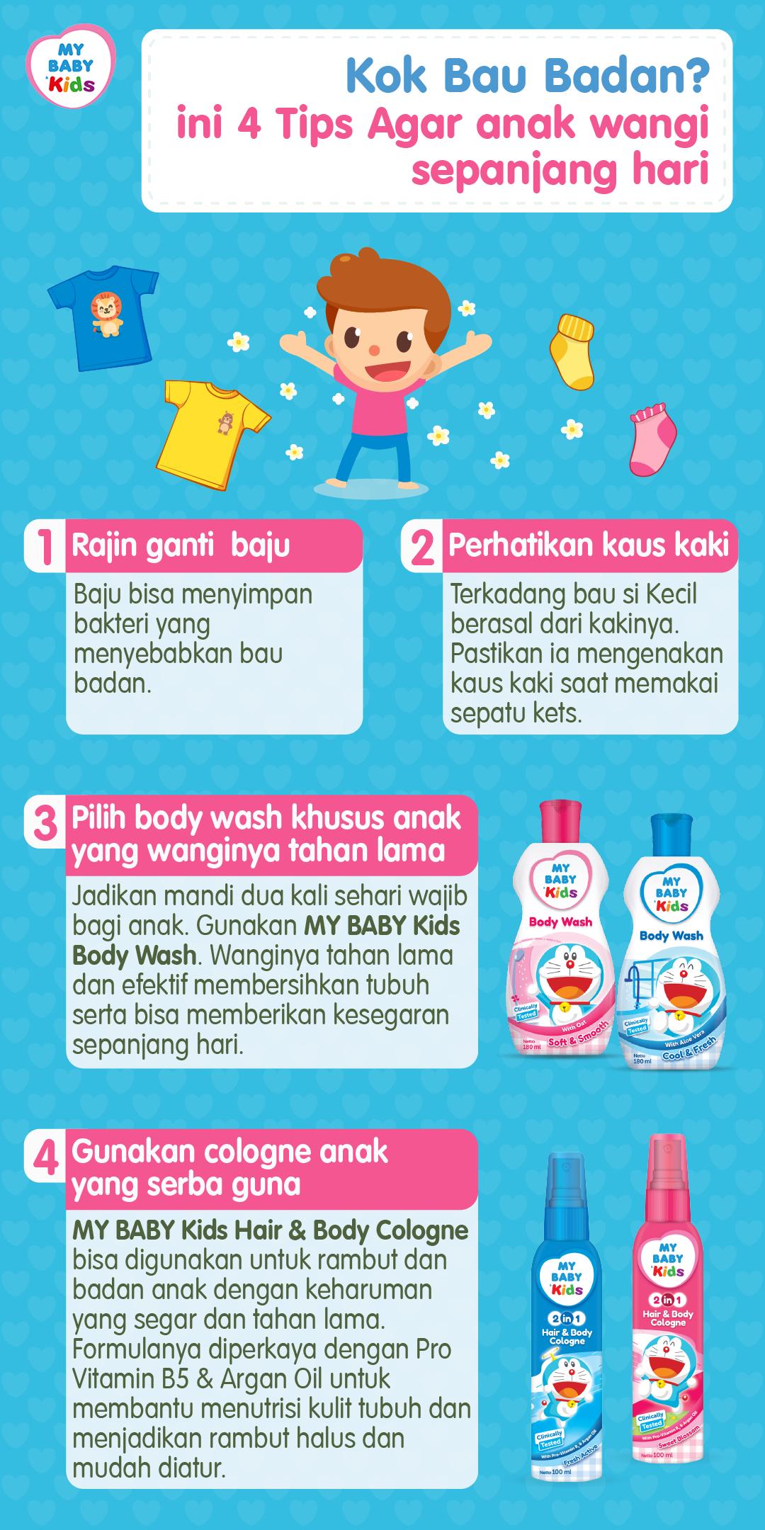 Kok Bau Badan? ini 4 Tips Agar anak wangi sepanjang hari