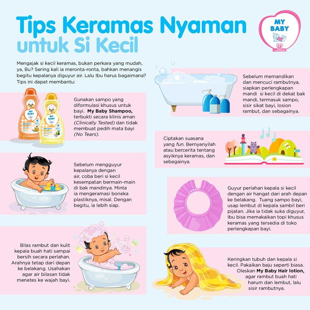 Tips Keramas Nyaman untuk Si Kecil