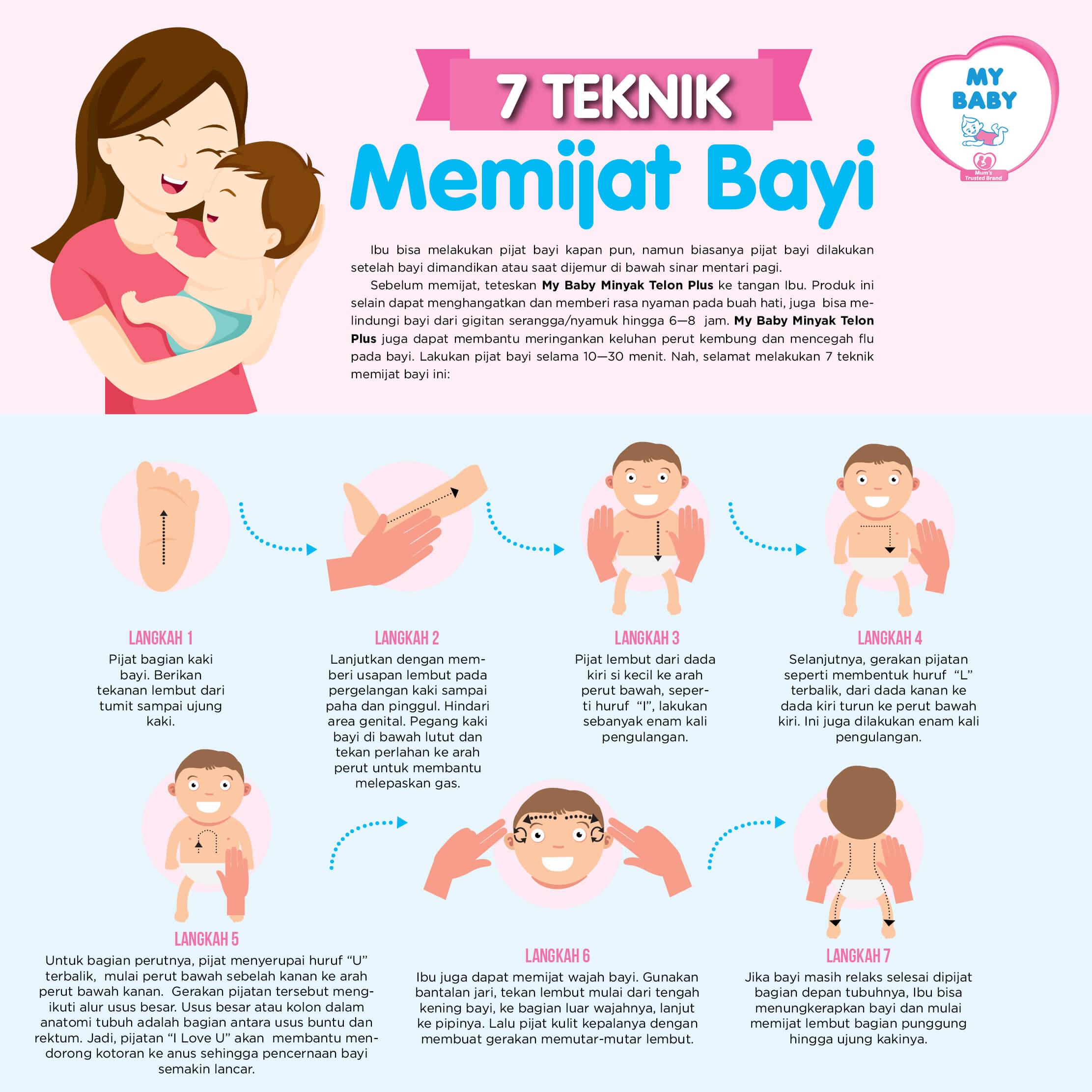 7 Teknik Memijat Bayi
