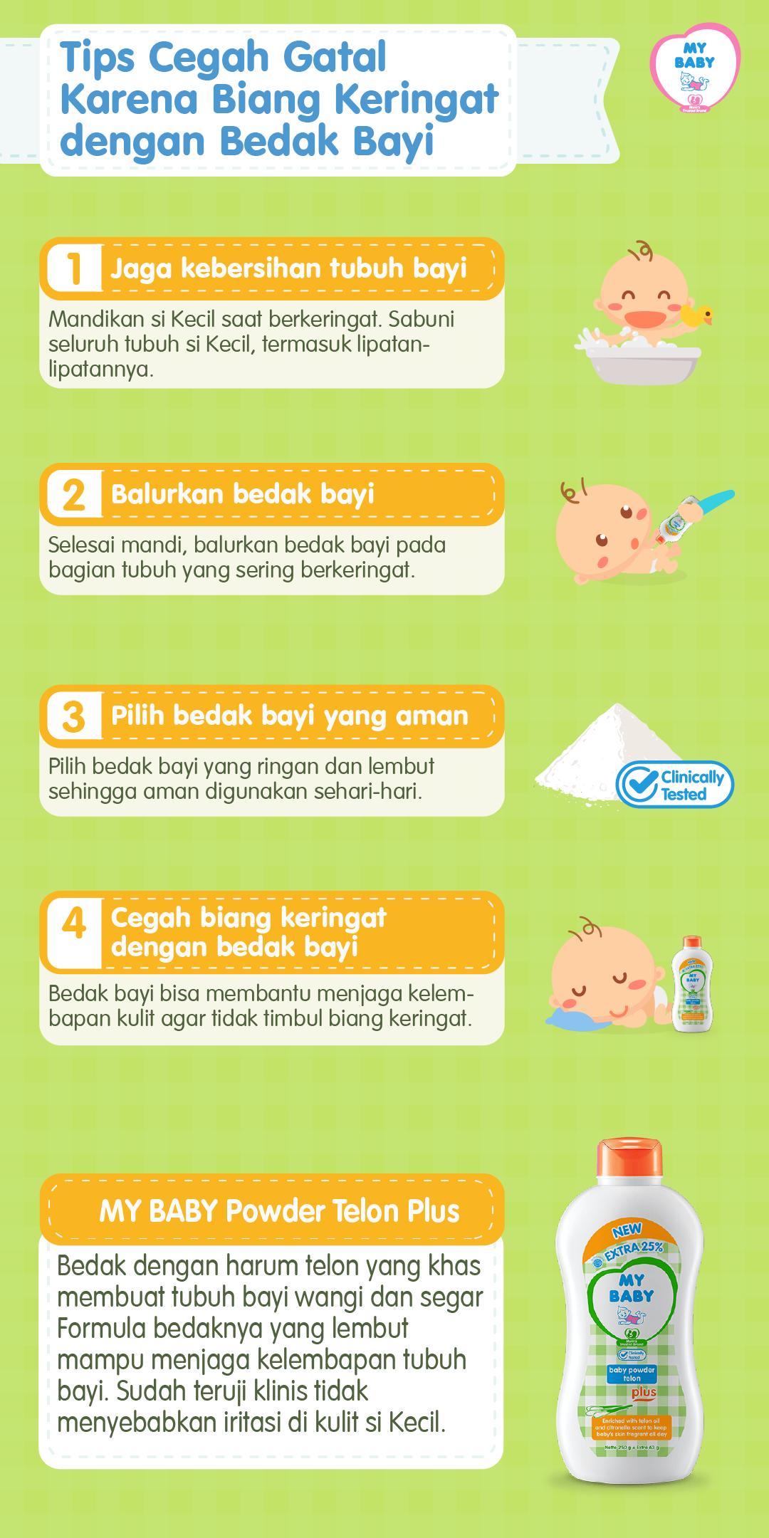 Tips Cegah Gatal dengan Bedak Bayi untuk Biang Keringat