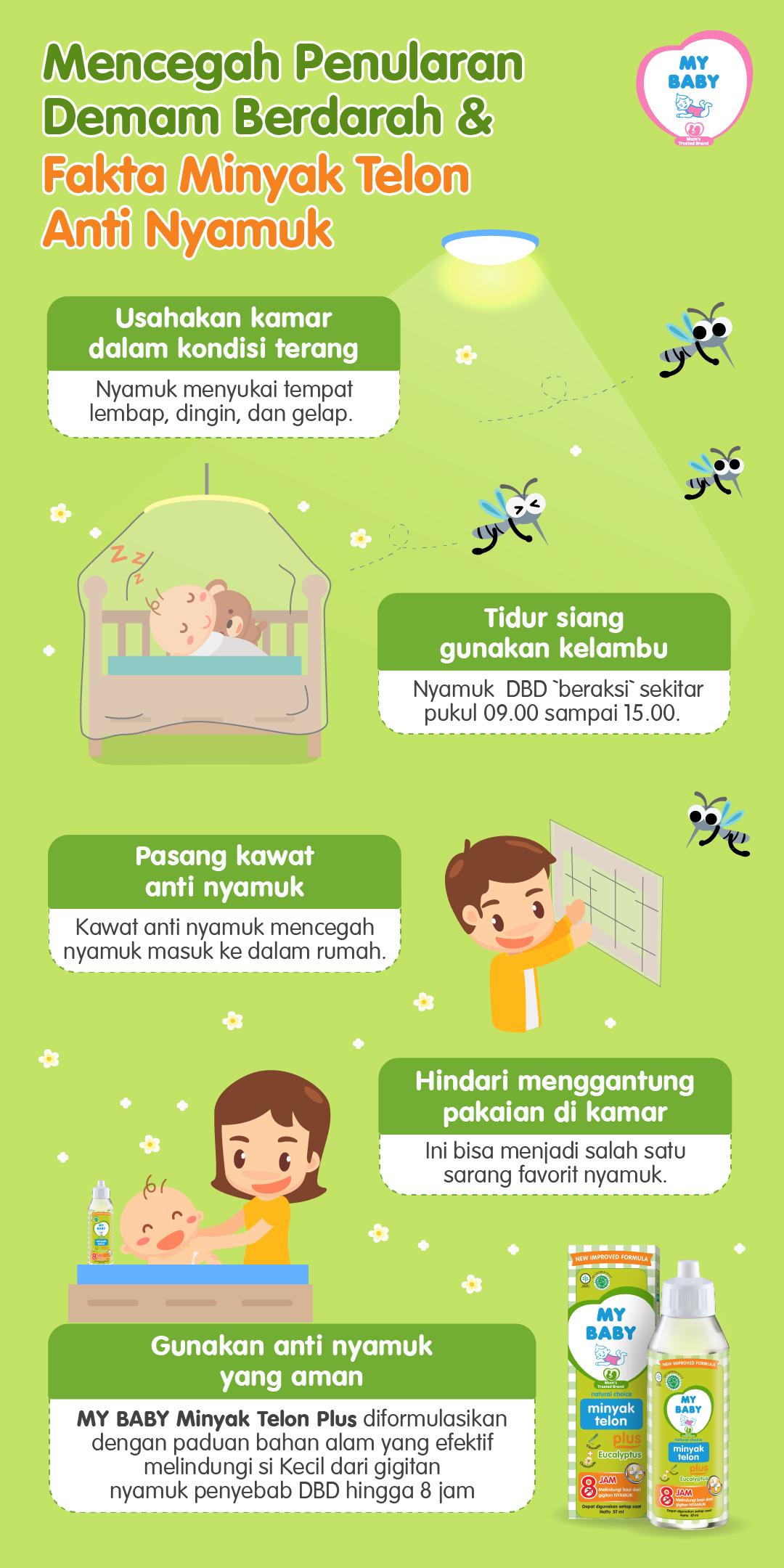 Mencegah Penularan Demam Berdarah & Fakta Minyak Telon Anti Nyamuk