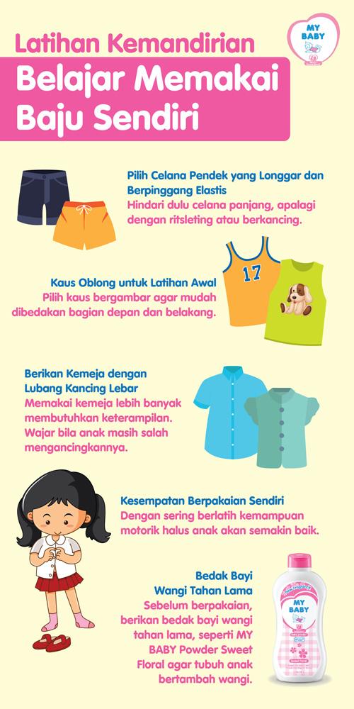 Latihan Kemandirian Belajar Memakai Baju Sendiri