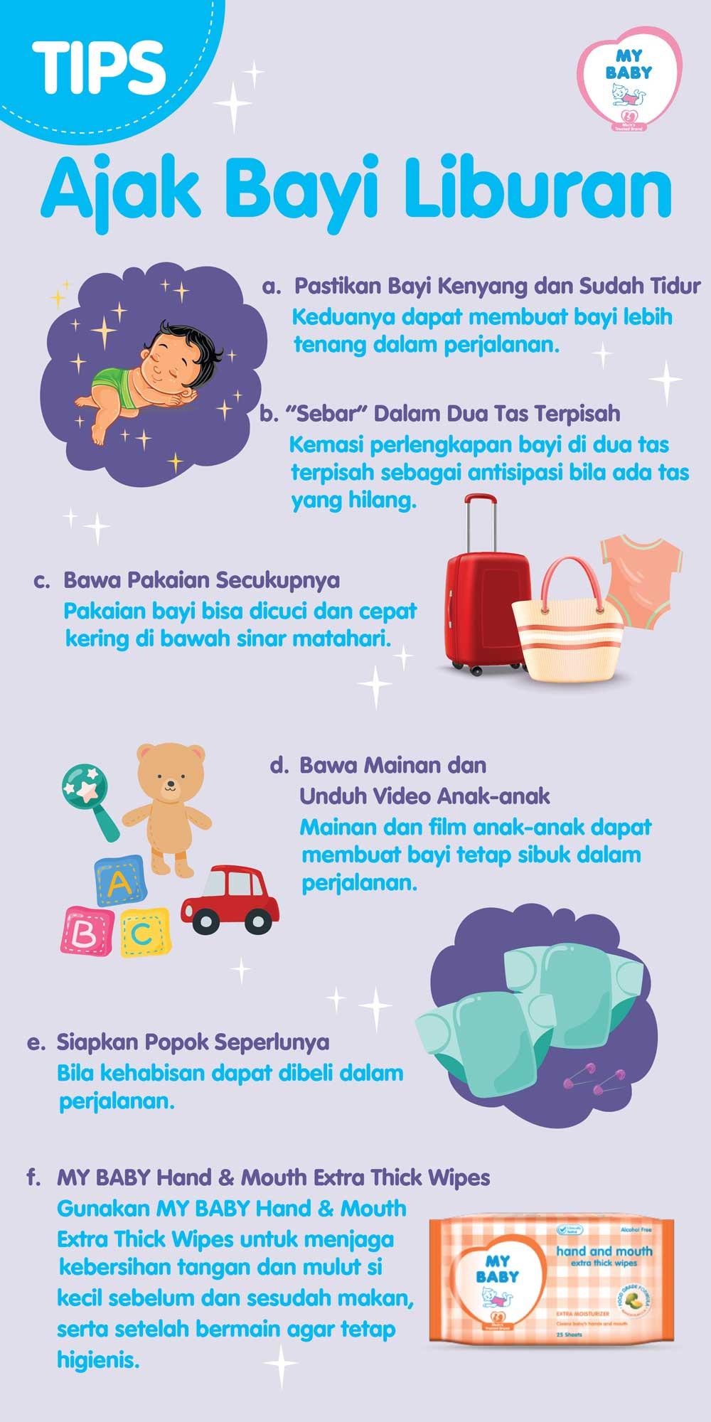 Tips Ajak Bayi Liburan