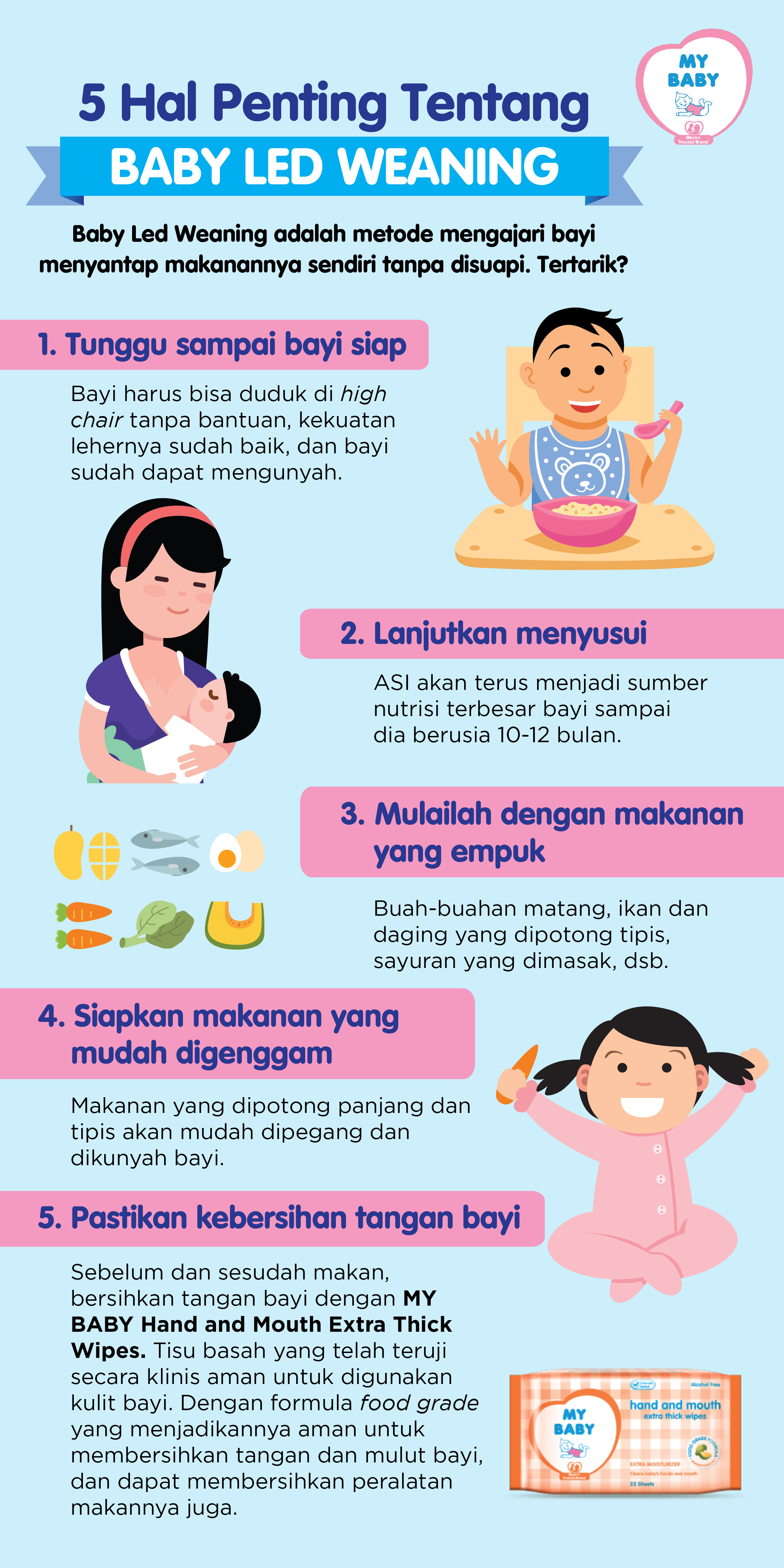 5 Hal Penting Tentang Baby Led Weaning