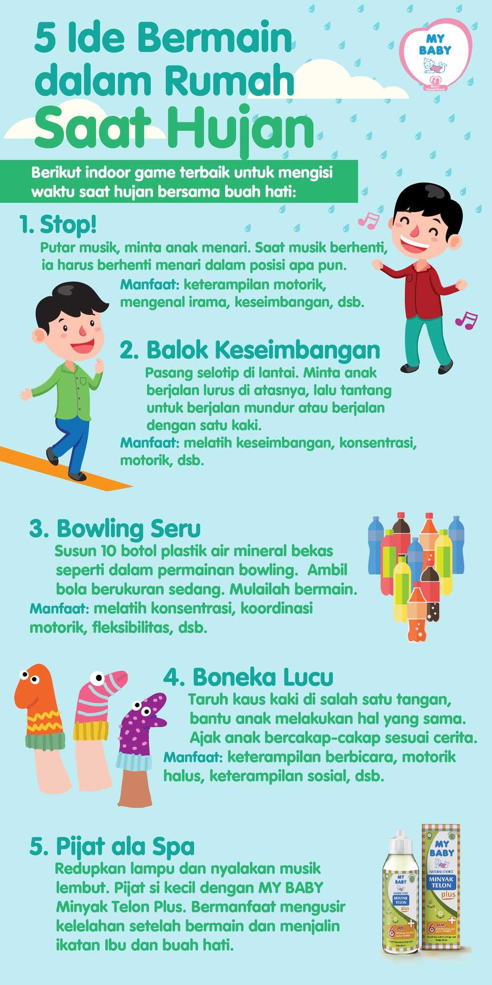 5 Ide Bermain Dalam Rumah Saat Hujan